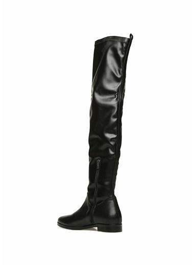 Beymen Club Deri Çizme Siyah
